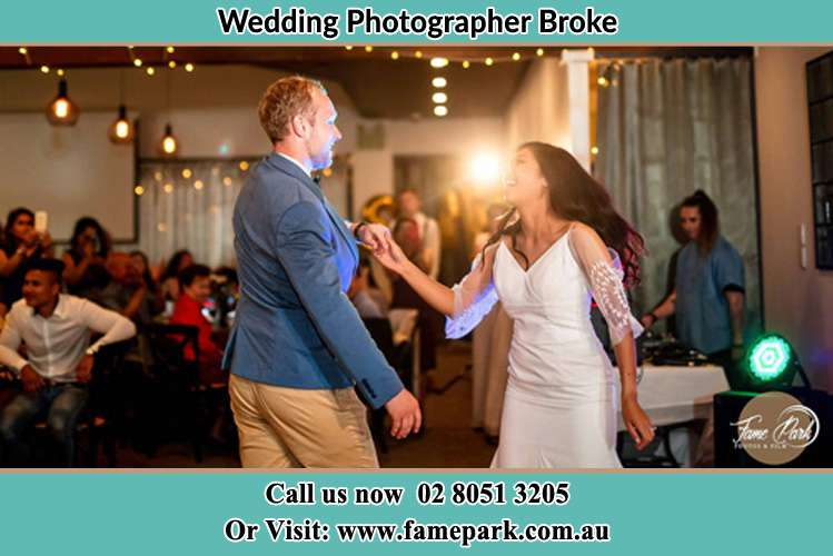 Photo of the Groom and the Bride dancing Broke NSW 2330