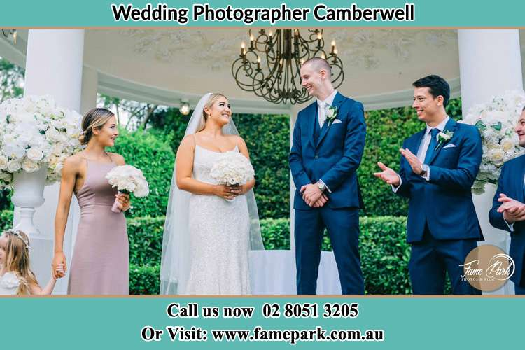 Photo of the Groom and the Bride with the entourage Camberwell NSW 2330