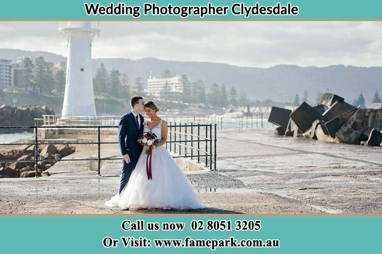 Photo of the Bride and Groom at the Watch Tower Clydesdale NSW 2330