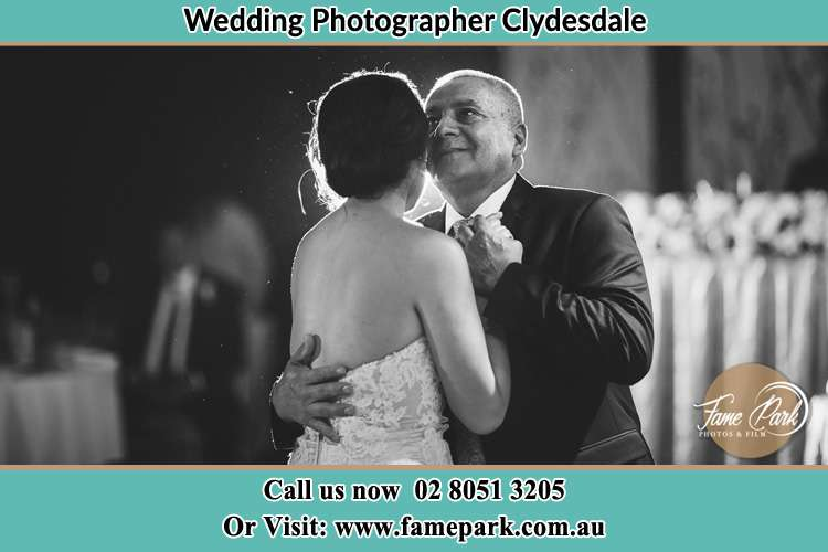 Photo of the Bride dancing with her father Clydesdale NSW 2330