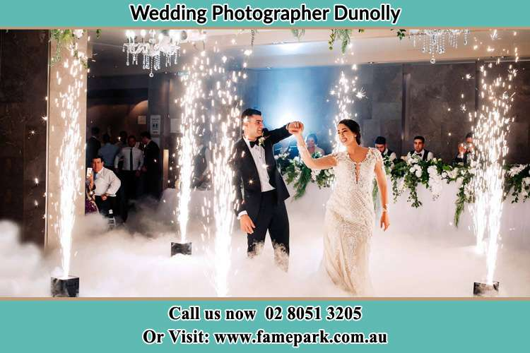 Photo of the Groom and the Bride dancing on the dance floor Dunolly NSW 2330