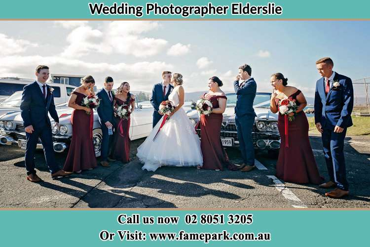 Photo of the Groom and the Bride with the entourage Elderslie NSW 2570