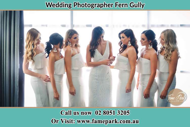 Photo of the Bride and the bridesmaids Fern Gully NSW 2330