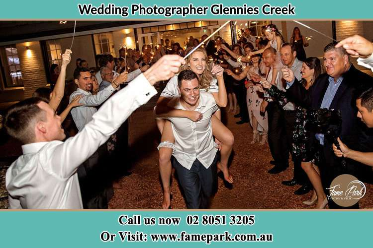 Photo of the Bride horse back ridding to the Groom Glennies Creek NSW 2330