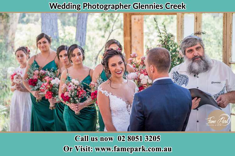 Photo of the Bride and the Groom at the matrimony Glennies Creek NSW 2330