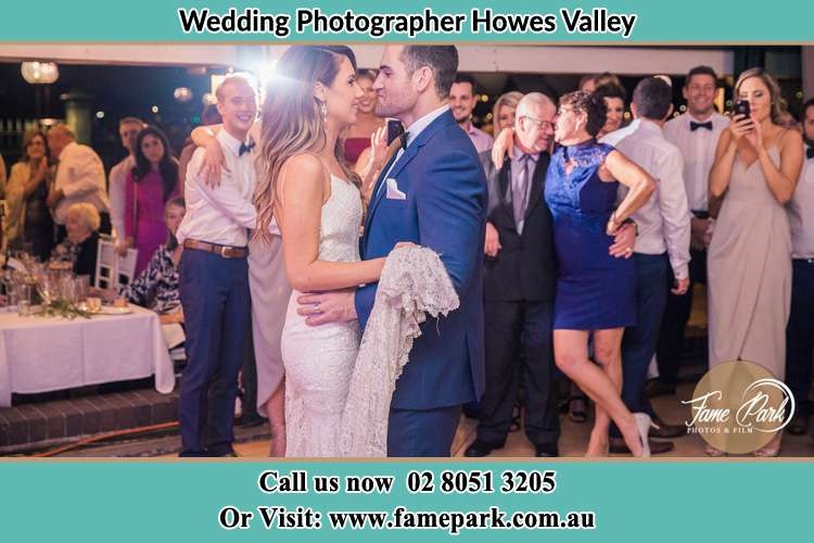 Photo of the Bride and the Groom dancing Howes Valley NSW 2330