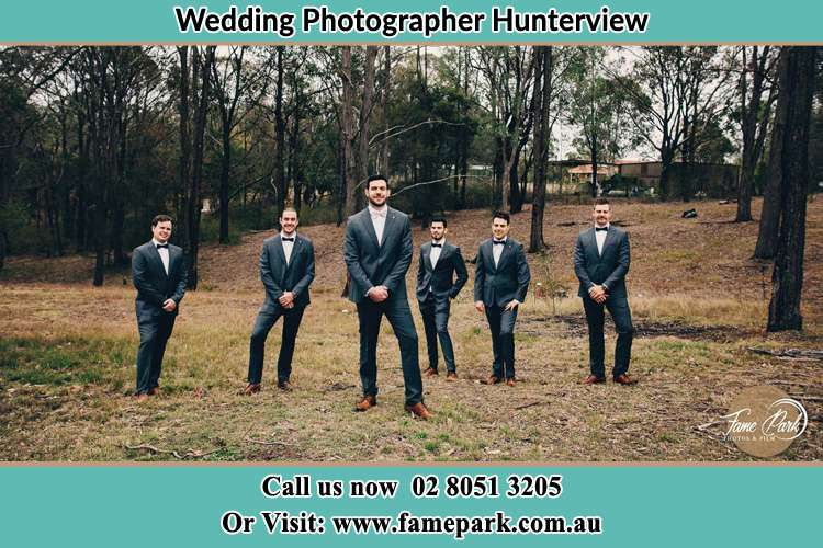 Photo of the Groom and the groomsmen Hunterview NSW 2330