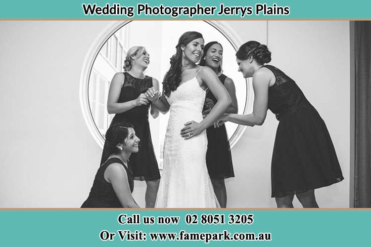 Photo of the Bride and the bridesmaids near the window Jerrys Plains NSW 2330