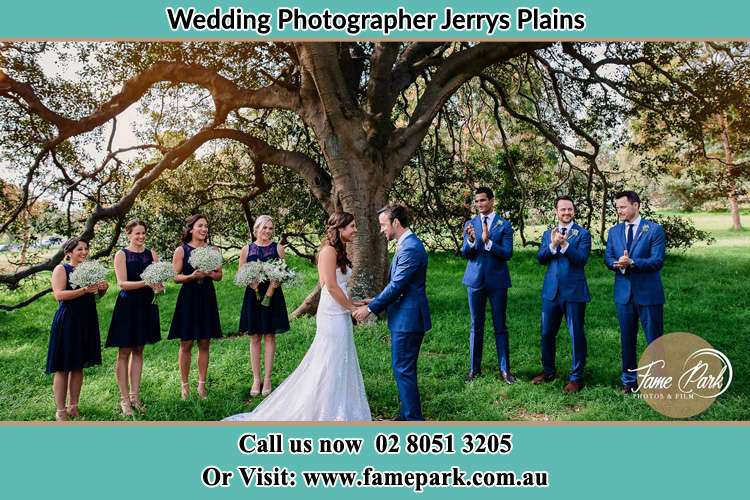 Photo of the Groom and the Bride with the entourage Jerrys Plains NSW 2330