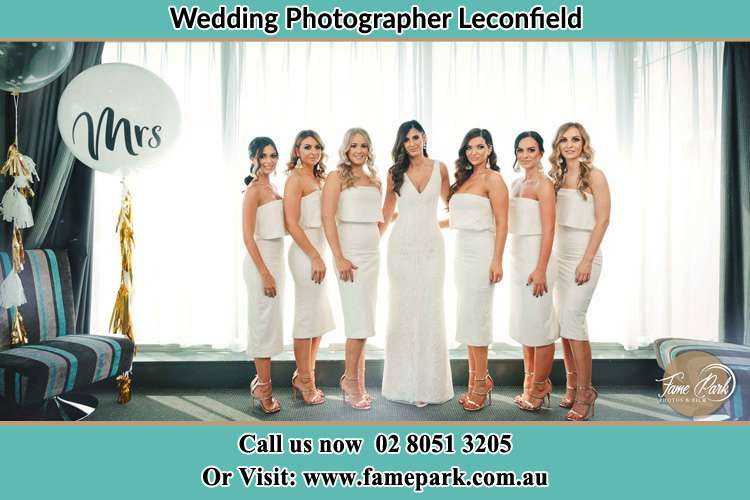Photo of the Bride and the bridesmaids Leconfield NSW 2335