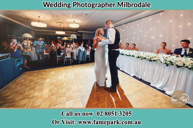 Photo of the Bride and the Groom dancing Milbrodale NSW 2330