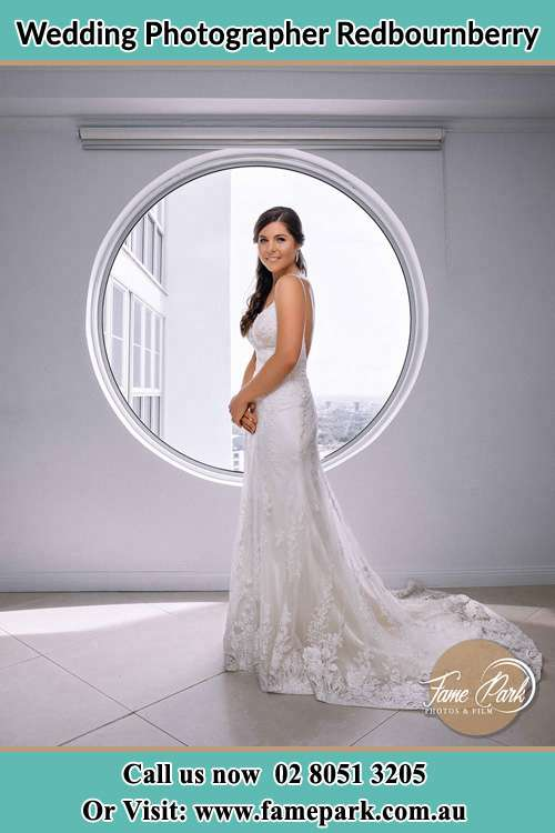 Photo of the Bride near the window Redbournberry NSW 2330
