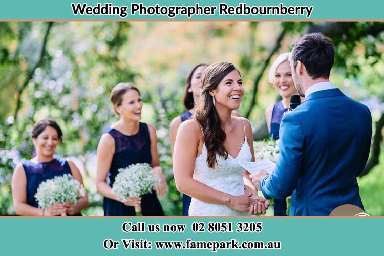 Photo of the Groom testifying love to the Bride Redbournberry NSW 2330