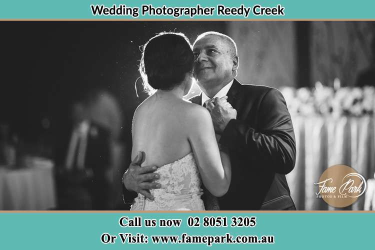 Photo of the Groom dancing with her father Reedy Creek NSW 2330
