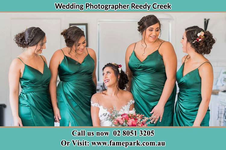Photo of the Bride and the bridesmaids Reedy Creek NSW 2330