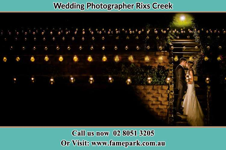 Photo of the Groom and the Bride kissing Rixs Creek NSW 2330
