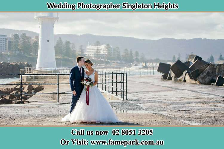 Photo of the Bride and Groom at the Watch Tower Singleton Heights NSW 2330