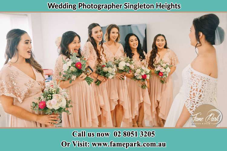 Photo of the Bride and the bridesmaids Singleton Heights NSW 2330