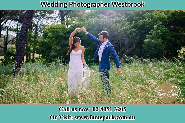 Photo of the Bride and the Groom dancing Westbrook NSW 2330
