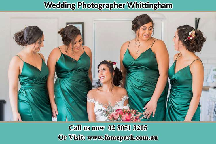Photo of the Bride and the bridesmaids Whittingham NSW 2330