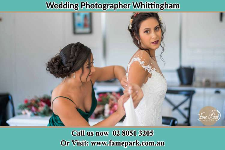 Photo of the Bride and the bridesmaid preparing Whittingham NSW 2330